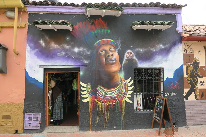 Graffiti på butik, Bogota, Colombia