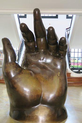 Hånd af Botero, Bogota, Colombia