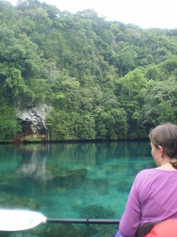 Kanotur på Palau