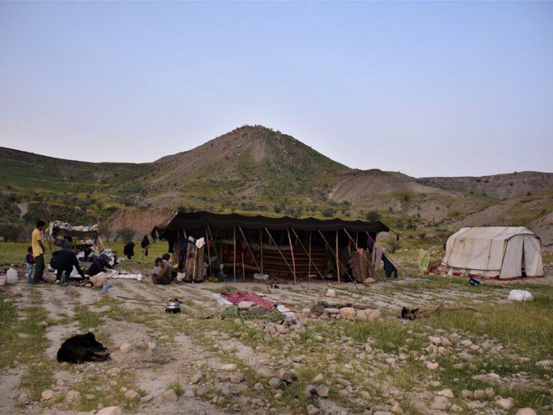 Overnatning hos nomader i Iran