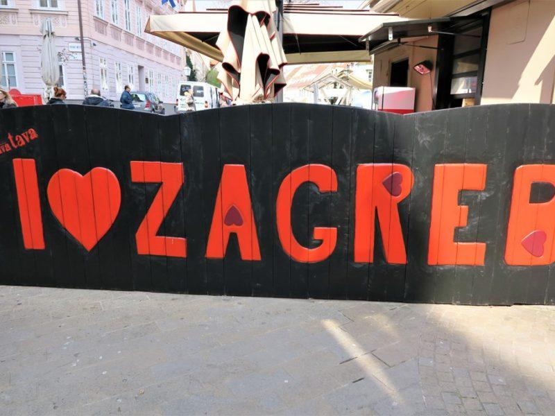 I love Zagreb, Kroatien