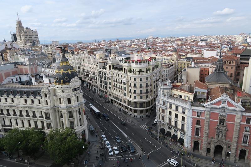 Udsigt over Madrid, Spanien