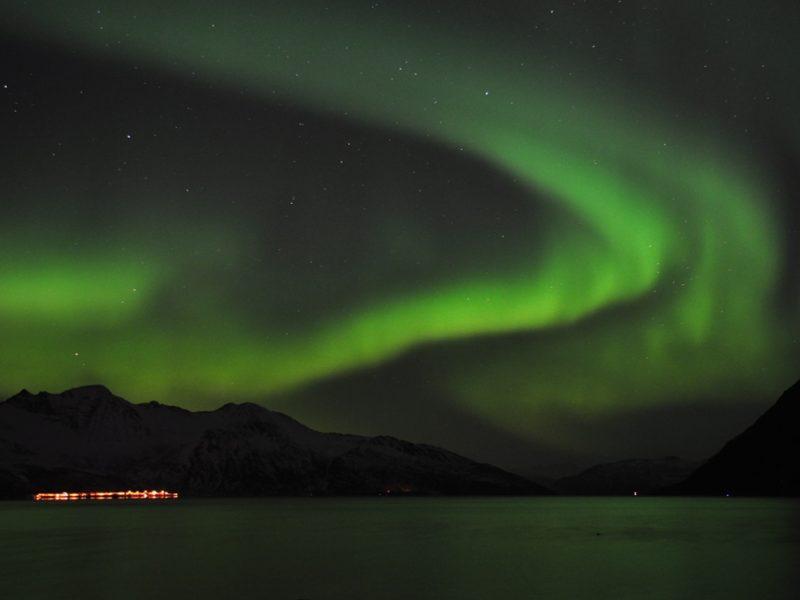 Smukt nordlystur ved Tromsø