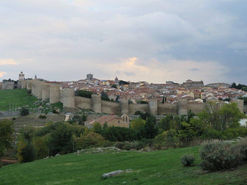 Udsigt over Ávila by, Spanien