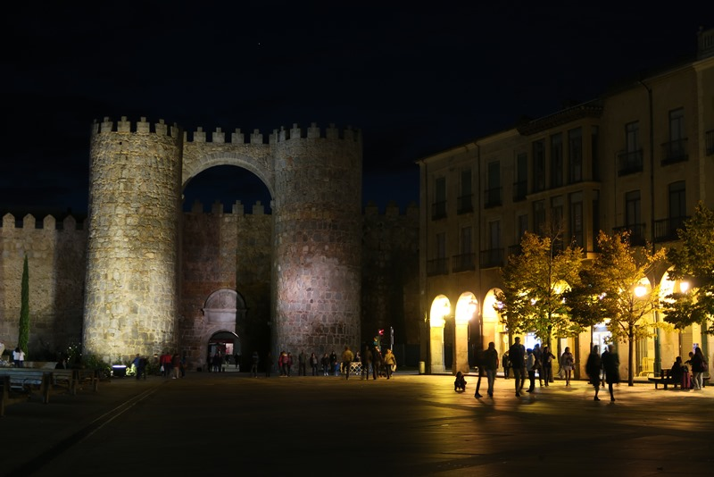 Ávila by night, Spanien