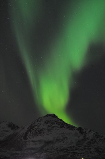 På tur med Marianne for at se nordlys nær Tromsø, Norge