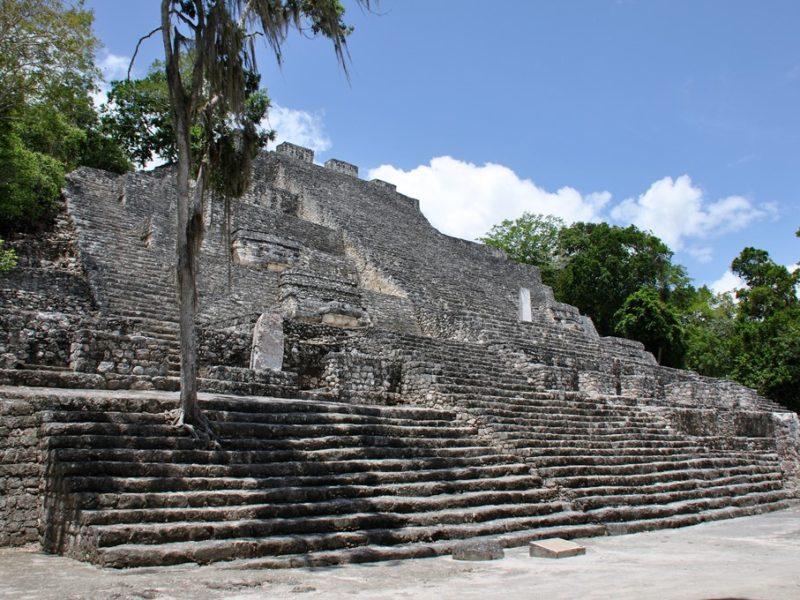 Flotte ruiner ved Calakmul