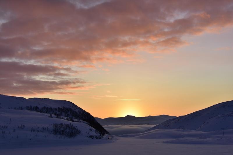 Lyset titter op for første gang, Tromsø, Norge