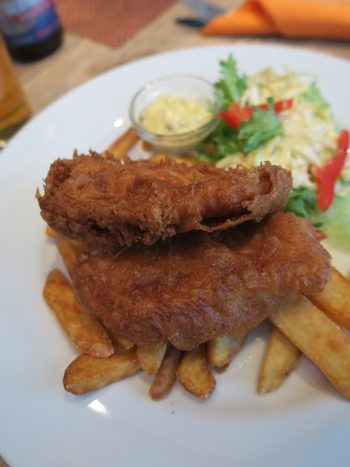 Fish n chips på Kaia, Tromsø, Norge