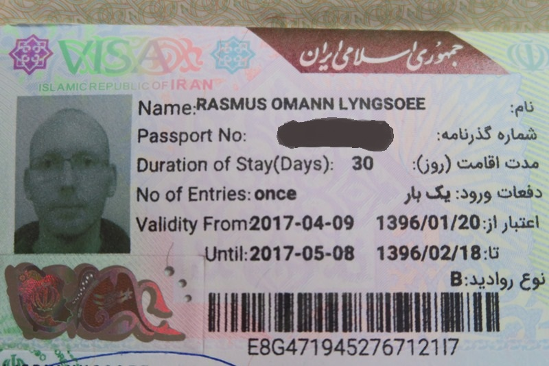 Visa on arrival i Teheran Lufthavn, Iran
