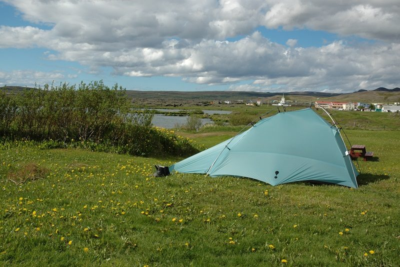 Smukt sted at slå telt op i Island