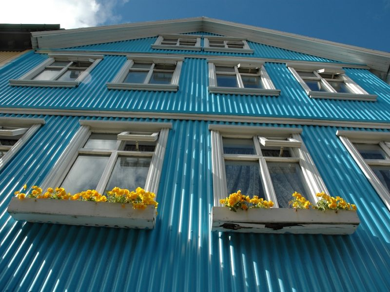 Trendy hus i Reykjavik, Island