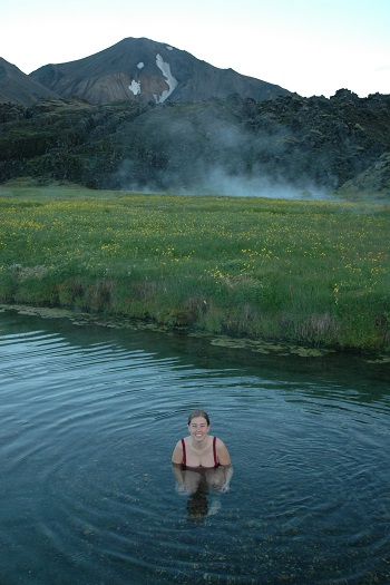 En varm kilde i Island