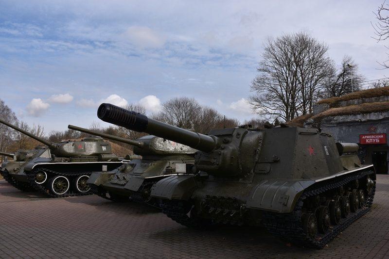 Kampvogne ved fortet i Brest, Hviderusland
