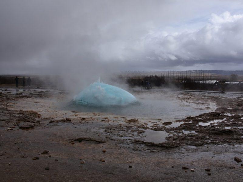 Gejseren går snart af, Island