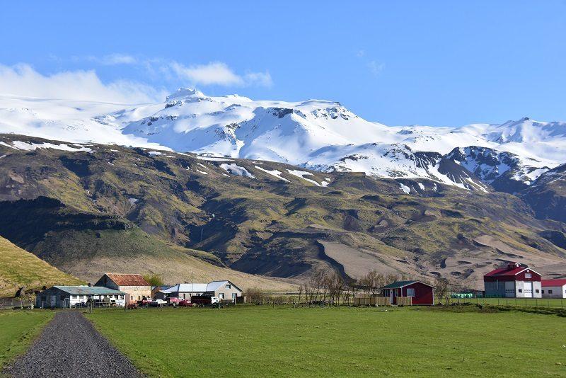 Flot udsigt på vej til Vik, Island