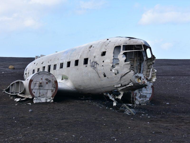 Flyvraget ved Vík i Island