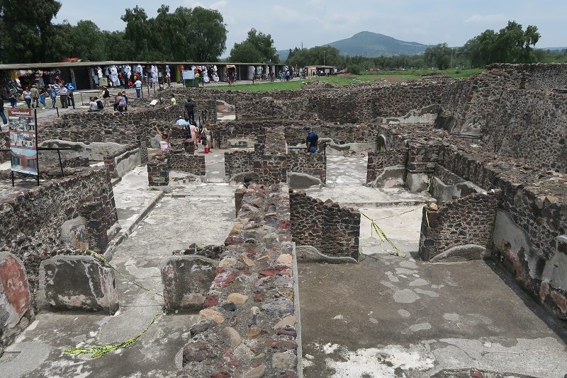 Huse ved Teotihuacan, Mexico