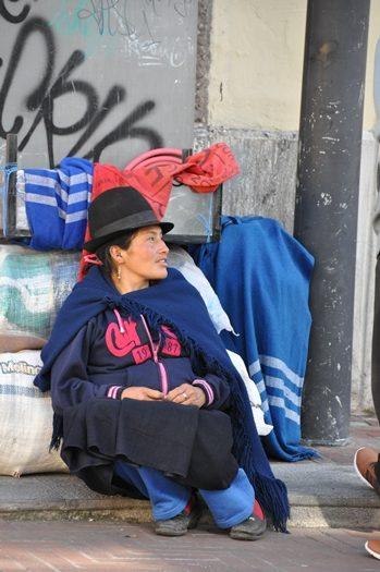 Gadebillede fra Quito