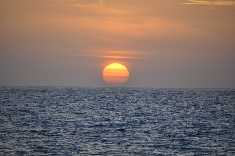 Solopgang på Isla Mujeres, Mexico