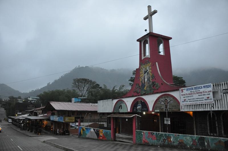 Hovedgaden i Mindo, Ecuador