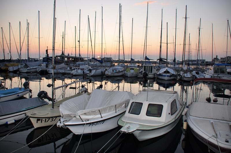 Lystbådehavnen i Piran