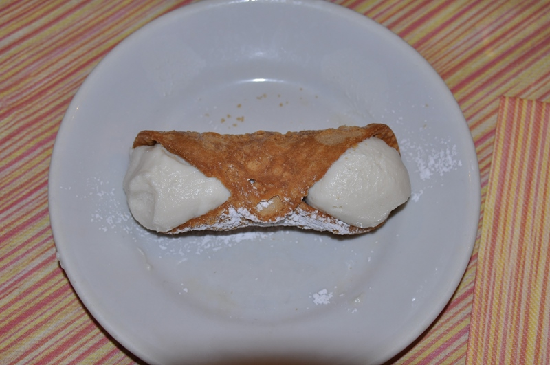 Den italienske dessert cannoli