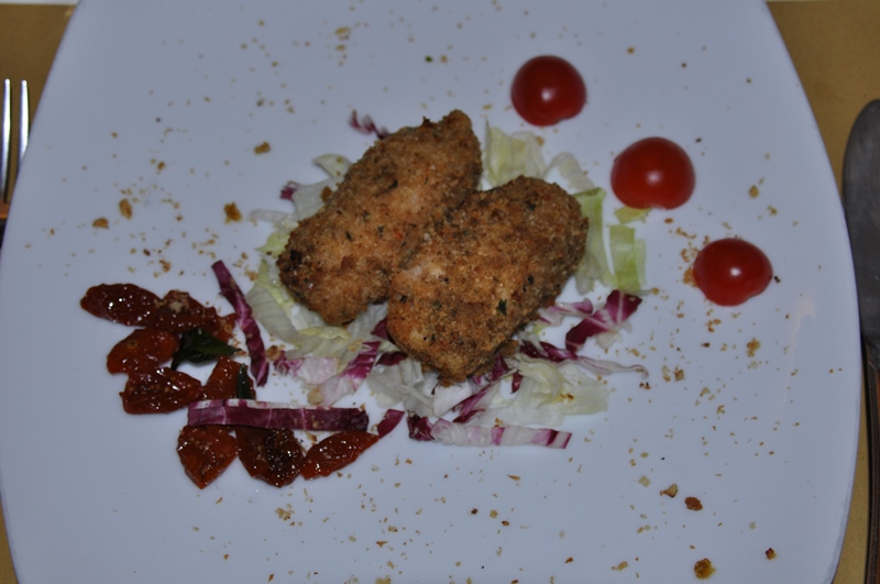 Sværfisk med ost og røget svin