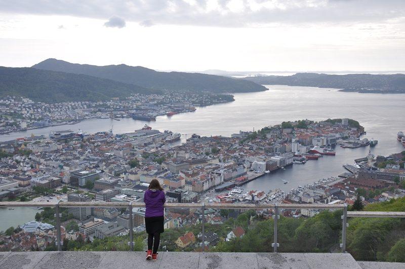 Udsigt over Bergen fra Fløyen