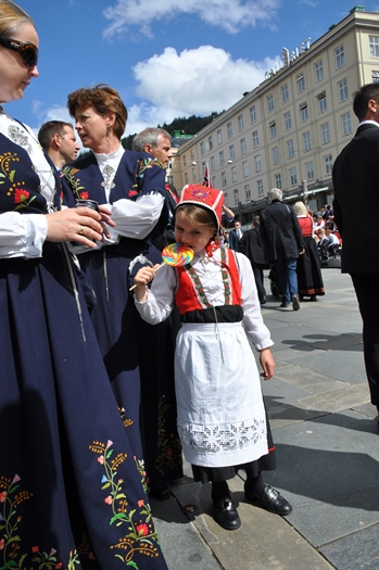 De blå nationaldragter fra Bergen