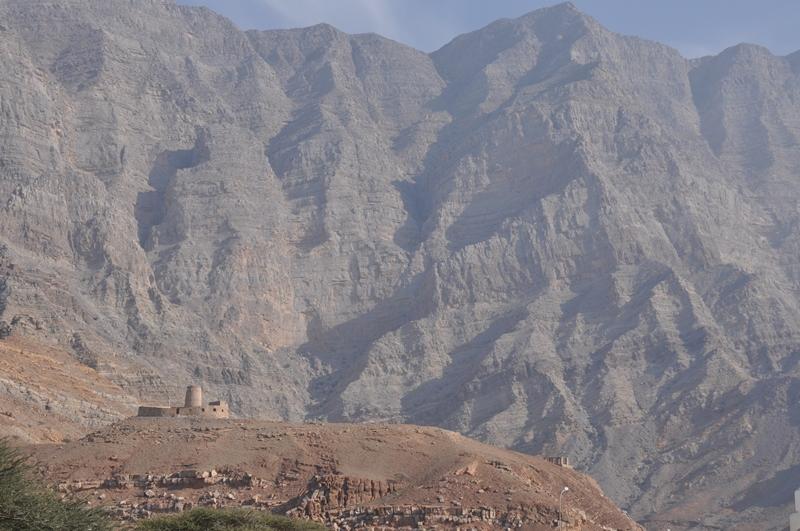 Bjerge og borg i Oman