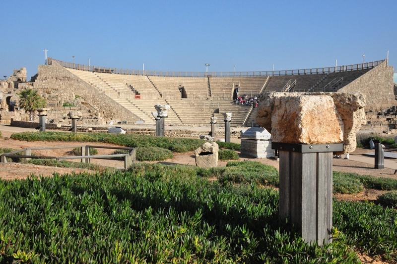 Det store amfiteater i Caesarea