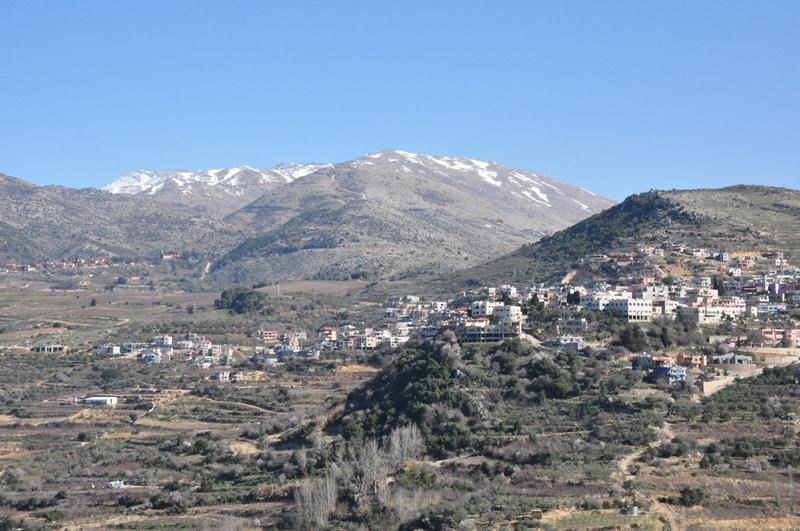 Smukt landskab i Golanhøjderne