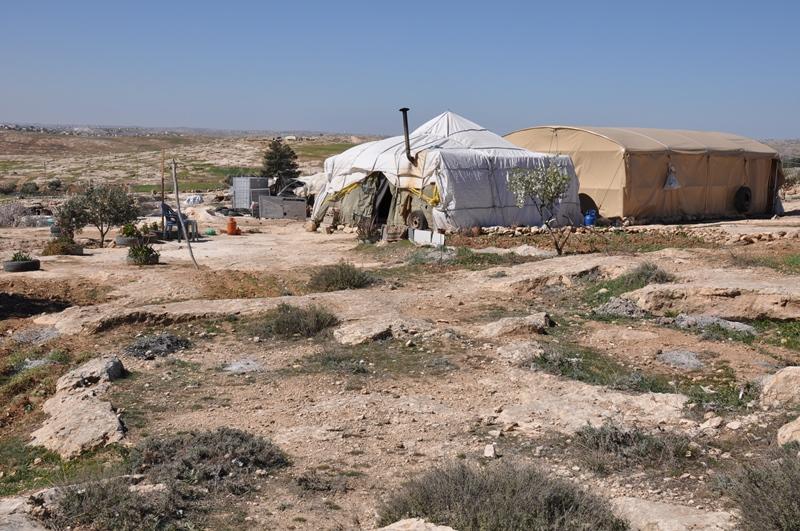 Vi besøgte en lille landsby ved Hebron Hills