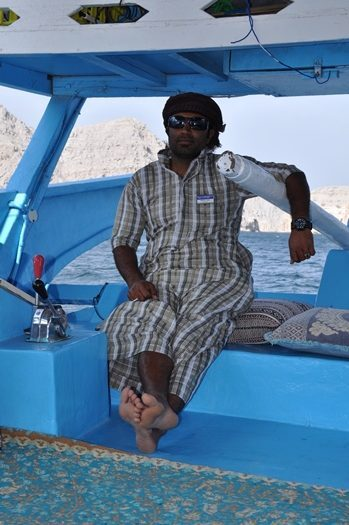Vores bådsmand på cruise