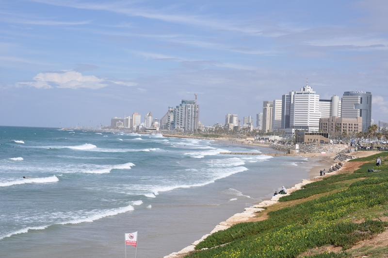 Stranden ved Tel Aviv set fra Jaffa