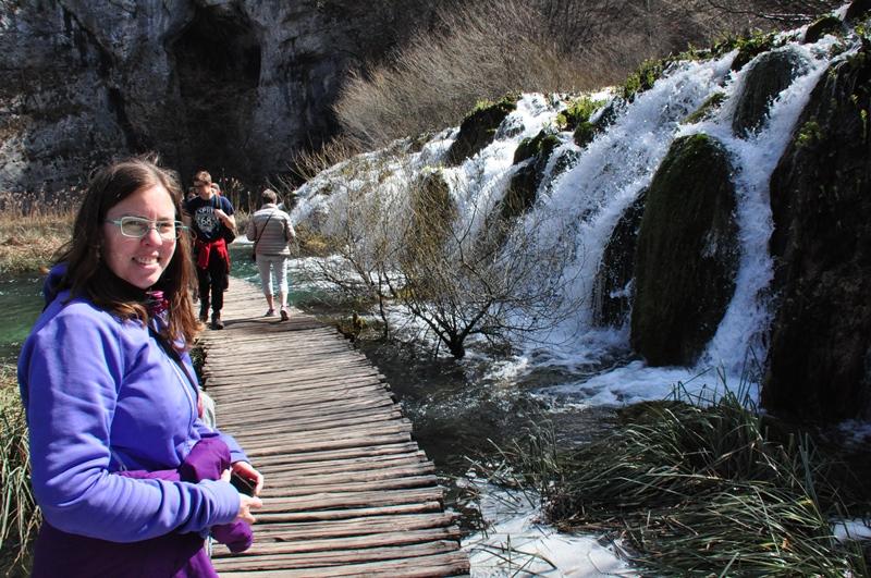 Endnu et vandfald i Plitviche Nationalpark