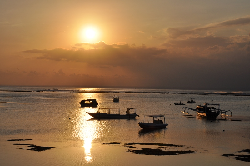Solnedgang på Nusa Lembongan