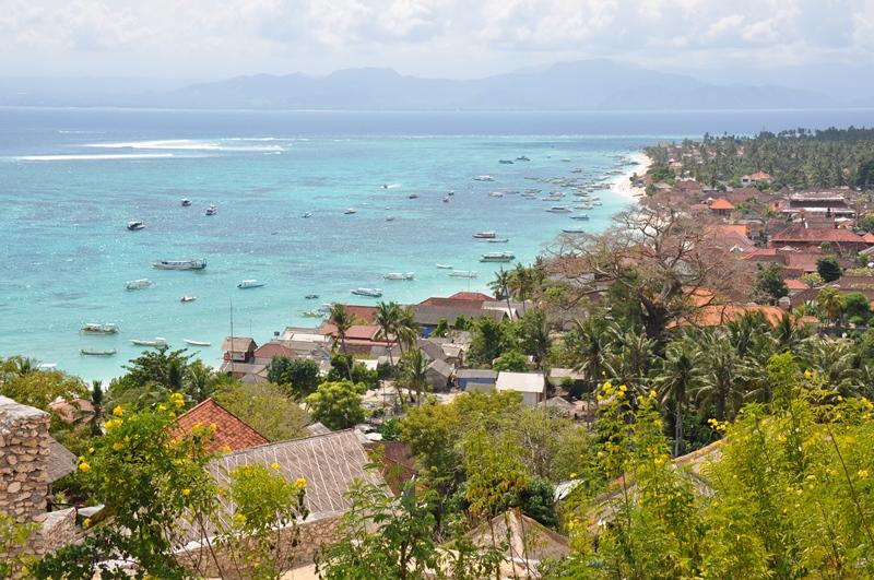 Fantastisk udsigt over Nusa Lembongan