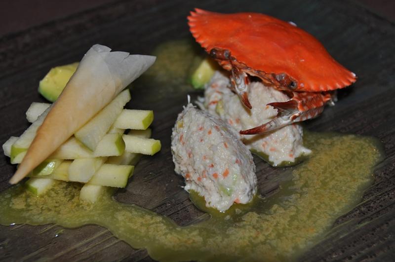 Krabbe med æble og limesauce