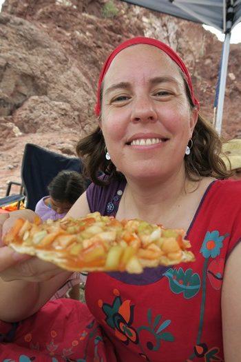 Mexicansk ceviche på stranden