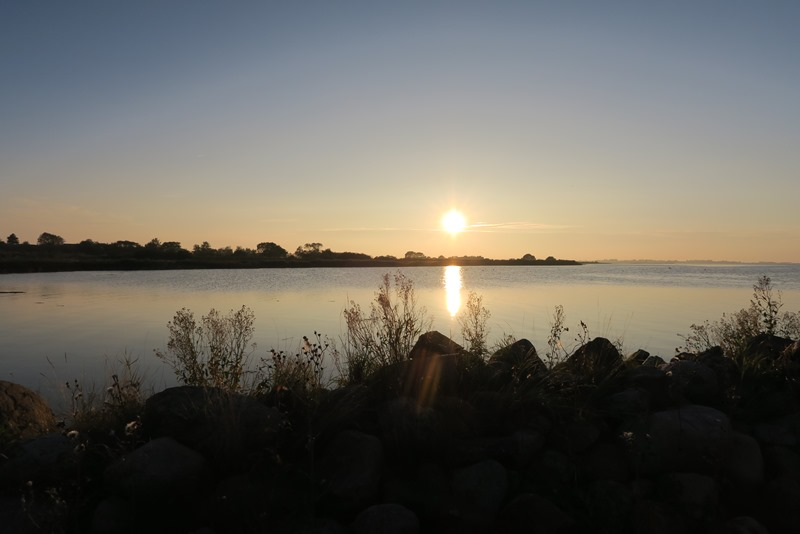 Solnedgang over Hjortø