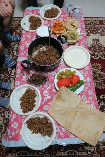 Hjemmelavet mad fra en druserfamilie