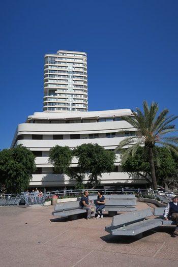 Bauhause hus i Tel Aviv