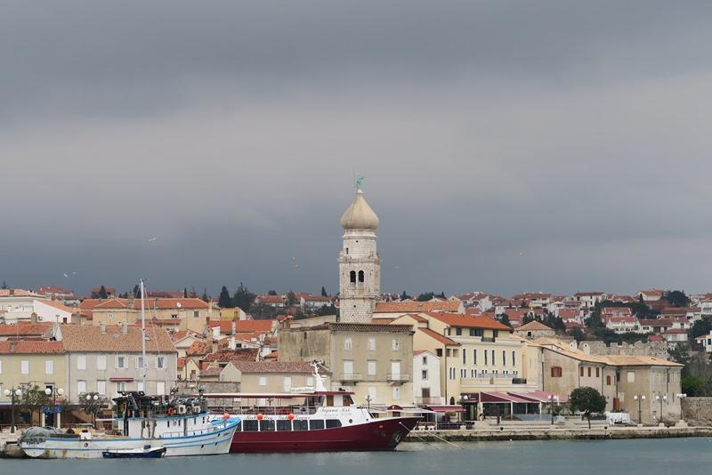 Byen Krk på øen Krk