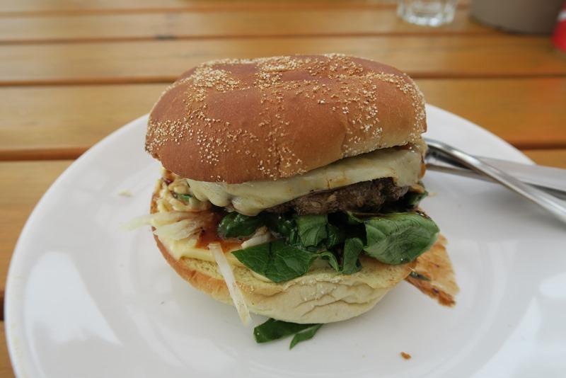 En lækker elgburger