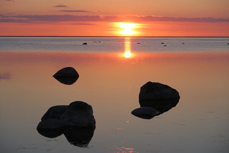 Solnedgang over Øland