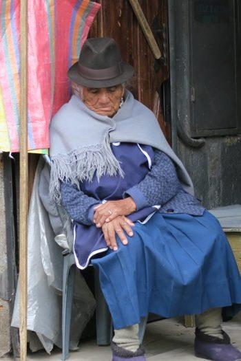 Sovende dame i Quito
