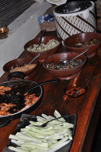 Aftensmad på Gili Gede