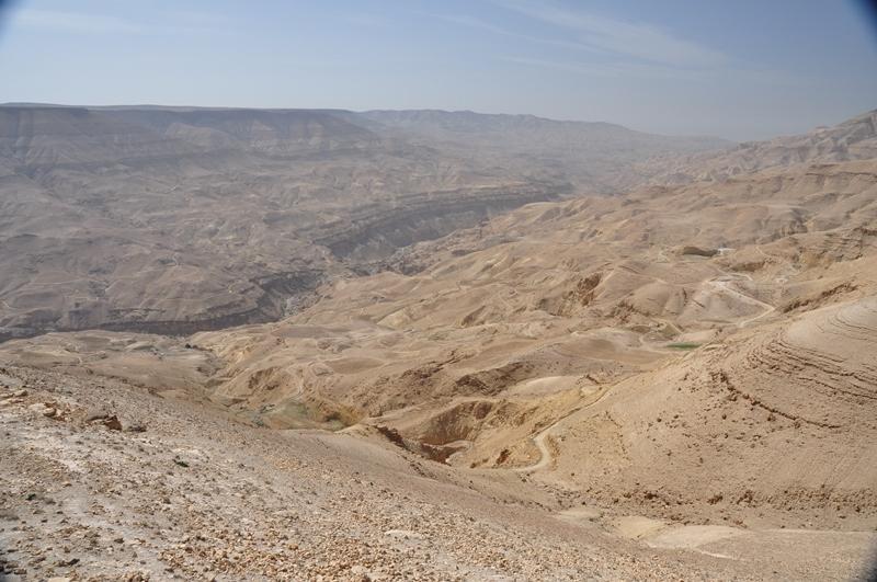 Udsigt fra bilen i Jordan